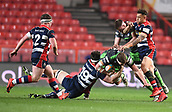 23rd March 2018, Ashton Gate, Bristol, England; RFU Rugby Championship, Bristol versus Yorkshire Carnegie; Richard Beck of Yorkshire Carnegie is tackled by Sam Jeffries of Bristol