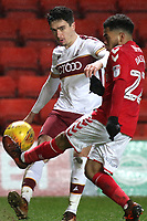 Charlton's Jay DaSilva tries to block a cross from Bradford City's Alex Gilliead during Charlton Athletic vs Bradford City, Sky Bet EFL League 1 Football at The Valley on 13th February 2018