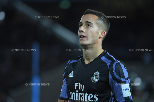 Lucas Vazquez (Real), <br /> DECEMBER 15, 2016 - Football / Soccer : <br /> FIFA Club World Cup Japan 2016 Semi Final match between <br /> Club America 0-2 Real Madrid <br /> at Yokohama International Stadium, Kanagawa, Japan. <br /> (Photo by AFLO SPORT)