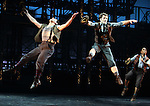 Ensemble.during the 'NEWSIES' Opening Night Curtain Call at the Nederlander Theatre in New York on 3/29/2012