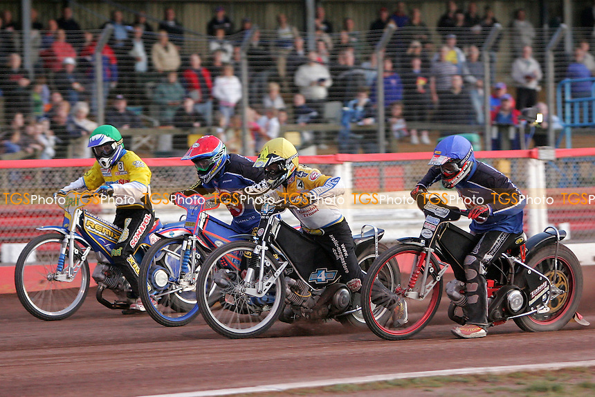 A large crowd watches a speedway meeting between Lakeside Hammers and Ipswich Witches at the Arena Essex Raceway, Purfleet - 21/06/06 - MANDATORY CREDIT: Gavin Ellis/TGSPHOTO. Self-Billing applies where appropriate. NO UNPAID USE. Tel: 0845 094 6026