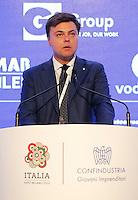 Marco Gay , presidente giovani imprenditori,  interviene al  30° Convegno dei Giovani imprenditori di Confindustria a Capri 16 Ottobre 2015