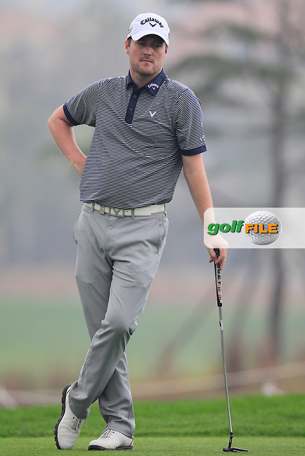 Marc Warren (SCO) on the 6th tee during Saturay's Round 3 of the 2014 BMW Masters held at Lake Malaren, Shanghai, China. 1st November 2014.<br /> Picture: Eoin Clarke www.golffile.ie