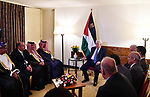 Palestinian President Mahmoud Abbas meets with the Arab ambassadors in Addis Ababa, Ethiopia, January 27, 2018. Photo by Thaer Ghanaim