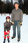 Law and Order's SBU Chrstopher Melonii w/his son Sherman at the 2009 Skating with the Stars - a benefit gala for Figure Skating in Harlem on April 6, 2009 at Wollman Rink, Central Park, NYC, NY. (Photo by  Sue Coflin/Max Photos)