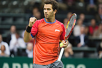 Rotterdam, The Netherlands. 16.02.2014.  Jean-Julien Rojer(NED)  ABN AMRO World tennis Tournament<br /> Photo:Tennisimages/Henk Koster