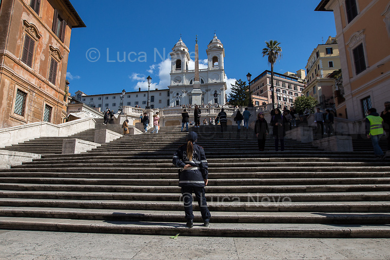 Prologue: Rome - Spanish Steps, 08/03/2020. <br />