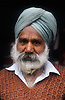 Portrait of elderly man in the Punjab; India,