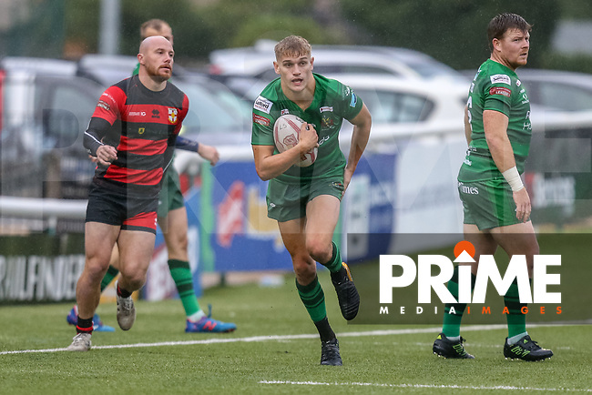 Match action from the Betfred League One match between London Skolars and Oldham Rugby League Football Club at Trailfinders Sports Ground, Ealing, England on 22 September 2018. Photo by David Horn.