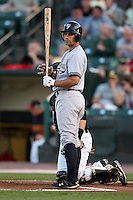 September 4, 2009:  Kevin Russo of the Scranton Wilkes-Barre Yankees during a game at Frontier Field in Rochester, NY.  Scranton is the Triple-A International League affiliate of the New York Yankees and clinched the North Division Title with a victory over Rochester.  Photo By Mike Janes/Four Seam Images