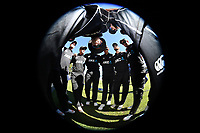 NZ team huddle as Tim Southee looks at the camera.<br /> New Zealand Black Caps v England, ODI series, University Oval in Dunedin, New Zealand. Wednesday 7 March 2018. &copy; Copyright Photo: Andrew Cornaga / www.Photosport.nz