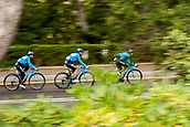 25th March 2018, Barcelona, Spain; Volta a Catalunya 2018 Cycling, Stage 7; Movistar TEAM during the stage 7 of la Volta Catalunya