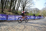 John Degenkolb (GER) Trek-Segafredo on the the first ascent of the Kemmelberg during the 2019 Gent-Wevelgem in Flanders Fields running 252km from Deinze to Wevelgem, Belgium. 31st March 2019.<br /> Picture: Eoin Clarke | Cyclefile<br /> <br /> All photos usage must carry mandatory copyright credit (© Cyclefile | Eoin Clarke)
