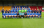 St Johnstone FC Season 2011-12.Back row from left, Cillian Sheridan, Sam Parkin, Mark Durnan, David McCracken, Frazer Wright, Steven Anderson, Francisco Sandaza and Marcus Haber..Middle row from left, Gordon Marshall (Goalkeeping Coach), Alec Cleland (Youth Coach), Tommy Campbell (Youth Development Manager), Graham Gartland, Carl Finnigan, Murray Davidson, Alan Mannus, Peter Enckelman, Zander Clark, Jamie Adams, Liam Craig, Graham Kirk (Coach), Atholl Henderson (Coach), Jocky Peebles (Asst Physio) and Frank Kenny (Physio)..Front row from left, Liam Caddis, Alan Maybury, David Robertson, Kevin Moon, Jody Morris, Derek McInnes (Manager), Craig Younger (Thomas Cook), Janet Mearns (Thomas Cook), Tony Docherty (Asst Manager), Dave Mackay, Chris Millar, Callum Davidson, Sean Higgins and Stevie May..Picture by Graeme Hart..Copyright Perthshire Picture Agency.Tel: 01738 623350  Mobile: 07990 594431