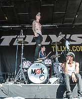 Machine Gun Kelly performs at the Vans Warped Tour in Atlanta, GA on July 26, 2012.  Copyright © 2012 by HIGH ISO Music, LLC.