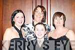 Anna Kerin, Maureen Riordan, Denise Dunlea and Eileen Dunlea having fun at the Scartaglen GAA social in the River Island Hotel Castleisland on Saturday night.   Copyright Kerry's Eye 2008