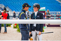 AUS-Emma McNab during the course walk for the Showjumping for the FEI World Team and Individual Eventing Championship. 2018 FEI World Equestrian Games Tryon. Monday 17 September. Copyright Photo: Libby Law Photography