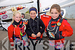 Zoe Hall, Georgie McCarthy, Kate Horgan enjoying The Fenit Sailing School Munster optimist Competition on Saturday