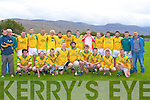 CUP WINNERS: The Castlegregory team winners of the McElligott Cup Final at Blennerville on Saturday.