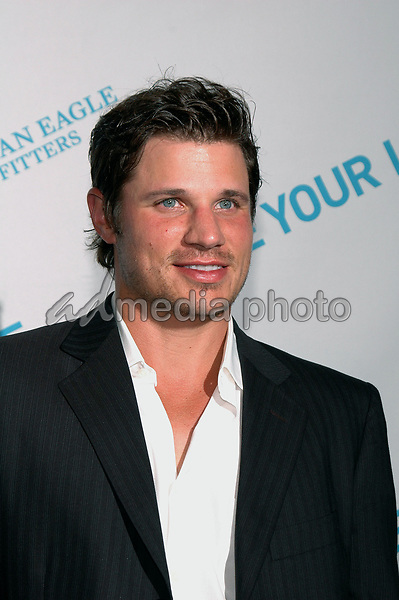 27 July 2005 - New York, New York - Nick Lachey came out to celebrate American Eagle Outfitters' &quot;Live Yor Life Contest&quot; winners at the Union Square flagship store in Manhattan.  <br />