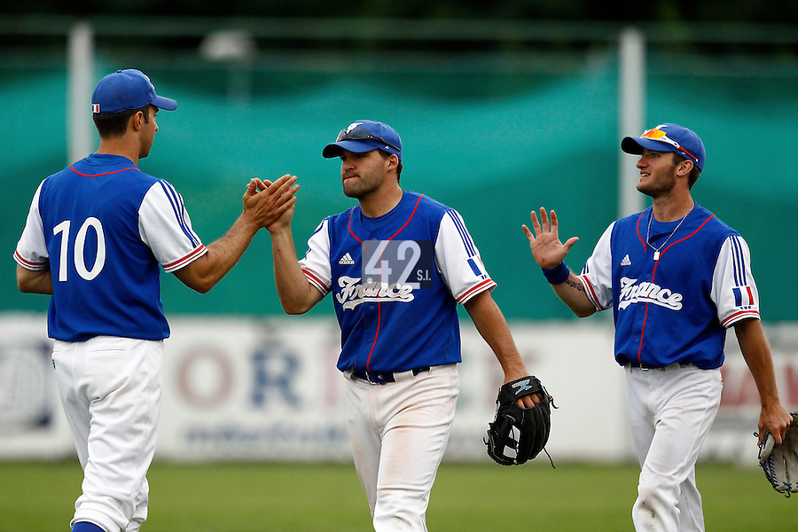 24 June 2011: Vincent Ferreira of Team France is seen after France 8-5 win over UCLA Alumni, at the 2011 Prague Baseball Week, in Prague, Czech Republic.