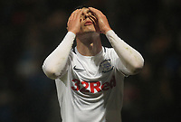 Preston North End's Josh Earl is sent off<br /> <br /> Photographer Mick Walker/CameraSport<br /> <br /> The EFL Sky Bet Championship - Preston North End v Swansea City - Saturday 12th January 2019 - Deepdale Stadium - Preston<br /> <br /> World Copyright © 2019 CameraSport. All rights reserved. 43 Linden Ave. Countesthorpe. Leicester. England. LE8 5PG - Tel: +44 (0) 116 277 4147 - admin@camerasport.com - www.camerasport.com
