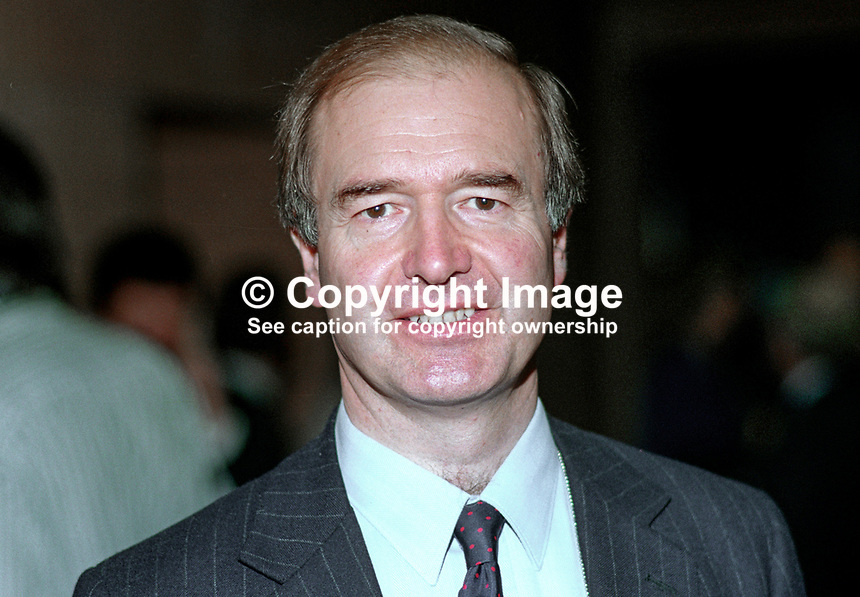Sir Nicholas Lyell, MP, politician, Conservative Party, UK, 19901057NL.<br /> <br /> Copyright Image from Victor Patterson, 54 Dorchester Park, <br /> Belfast, UK, BT9 6RJ<br /> <br /> t1: +44 28 9066 1296 (from Rep of Ireland 048 9066 1296)<br /> t2: +44 28 9002 2446 (from Rep of Ireland 048 9002 2446)<br /> m: +44 7802 353836<br /> <br /> e1: victorpatterson@me.com<br /> e2: victorpatterson@gmail.com<br /> <br /> www.victorpatterson.com<br /> <br /> Please see my Terms and Conditions of Use at www.victorpatterson.com. It is IMPORTANT that you familiarise yourself with them.<br /> <br /> Images used on the Internet must be visibly watermarked i.e. &copy; Victor Patterson within the body of the image and copyright metadata must not be deleted. Images used on the Internet have a size restriction of 4kbs and will be chargeable at current NUJ rates unless agreed otherwise.<br /> <br /> This image is only available for the use of the download recipient i.e. television station, newspaper, magazine, book publisher, etc, and must not be passed on to any third party. It is also downloaded on condition that each and every usage is notified within 7 days to victorpatterson@me.com<br /> <br /> The right of Victor Patterson to be identified as the author is asserted in accordance with The Copyright Designs And Patents Act (1988).