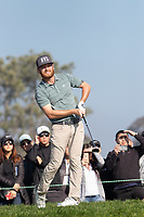 25th January 2020, Torrey Pines, La Jolla, San Diego, CA USA;  Tyler McCumber watches his tee shot during round 3 of the Farmers Insurance Open at Torrey Pines Golf Club on January 25, 2020