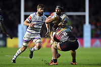 Sione Kalamafoni of Leicester Tigers takes on the Harlequins defence. Gallagher Premiership match, between Harlequins and Leicester Tigers on May 3, 2019 at the Twickenham Stoop in London, England. Photo by: Patrick Khachfe / JMP