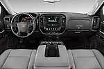 Stock photo of straight dashboard view of 2016 Chevrolet Silverado 1500 1WT Regular Cab Long Box 3 Door Pick-up Dashboard