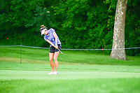 Gerina Piller (USA) chips on to 1 during Friday's round 2 of the 2017 KPMG Women's PGA Championship, at Olympia Fields Country Club, Olympia Fields, Illinois. 6/30/2017.<br /> Picture: Golffile | Ken Murray<br /> <br /> <br /> All photo usage must carry mandatory copyright credit (&copy; Golffile | Ken Murray)