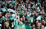 Stockholm 2015-10-25 Fotboll Allsvenskan Hammarby IF - Malm&ouml; FF :  <br /> Hammarbys supportrar viftar med halsdukar under matchen mellan Hammarby IF och Malm&ouml; FF <br /> (Foto: Kenta J&ouml;nsson) Nyckelord:  Fotboll Allsvenskan Tele2 Arena Hammarby HIF Bajen Malm&ouml; FF MFF supporter fans publik supporters