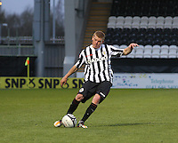 Jon Robertson in the St Mirren v Falkirk Clydesdale Bank Scottish Premier League Under 20 match played at St Mirren Park, Paisley on 30.4.13.