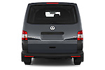 Straight rear view of a 2015 Volkswagen Transporter 2.0 Tdi Bvm6 4 Door Cargo Van Rear View  stock images