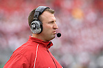 MADISON, WI - SEPTEMBER 9: Head coach Bret Bielema of the Wisconsin Badgers watches his team during the game against the Western Illinois Leathernecks at Camp Randall Stadium on September 9, 2006 in Madison, Wisconsin. The Badgers beat the Leathernecks 34-10. (Photo by David Stluka)