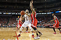 January 20, 2014: Terran Petteway (5) of the Nebraska Cornhuskers lays the ball up against Lenzelle Smith Jr. (32) of the Ohio State Buckeyes at the Pinnacle Bank Arena, Lincoln, NE. Nebraska won in the game against Ohio State 68 to 62.