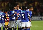 Club Millonarios vencio  3x0 al deportes Tolima en los cuadrangulares finales de la liga postobon del torneo finalizacion del futbol colombiano
