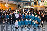 The Colaiste na Sceilge U15 Rugby side who claimed a Munster Title on Tuesday in CIT pictured front l-r; Shonagh Fitzpatrick, Cliodhna Guiney, Anna Kate Cournane, Mary Beth O'Donoghue(Captain), Emily O'Sullivan, Cara O'Shea, Maura Mahoney, back l-r; John O'Connor(Principal CnaS), Tony Cournane(Coach), Paulk Clifford(Teacher/Manager), Jessica O'Neill, Mary Ellen Bolger, Clodagh Graef, Sophie Daly Wilson, Jessica Galvin, Megan O'Mahony, Caoimhe Cournane, Robbie O'Mahony(Coach), Jane Byrne(Teacher/Manager) and missing from photo David Hussey(Coach) & Séamus Curran(Coach).