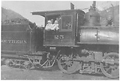 RGS 4-6-0 #25 (1st)  in Rico with Winfield Laube and Jim Lynton posing with babies.<br /> RGS  Rico, CO  1910-1916