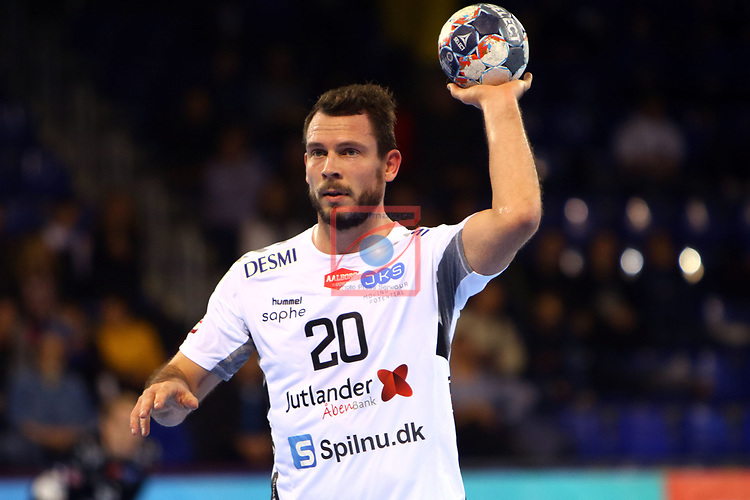 VELUX EHF 2019/20 EHF Men's Champions League Group Phase - Round 8.<br /> FC Barcelona vs Aalborg Handbold: 44-35.<br /> Mads Christiansen.