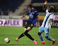 24th June 2020, Bergamo, Italy; Seria A football league, Atalanta versus Lazio;  Atalantas Jose Palomino passes the ball under pressure