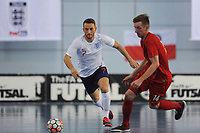 Robert Bettson of England and Bartlomiej Sitko of Poland during England vs Poland, International Futsal Friendly at St George's Park on 2nd June 2018