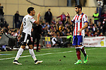 Atletico de Madrid´s Raul Garcia and Valencia CF´s Enzo Perez threat between them during 2014-15 La Liga match between Atletico de Madrid and Valencia CF at Vicente Calderon stadium in Madrid, Spain. March 08, 2015. (ALTERPHOTOS/Luis Fernandez)