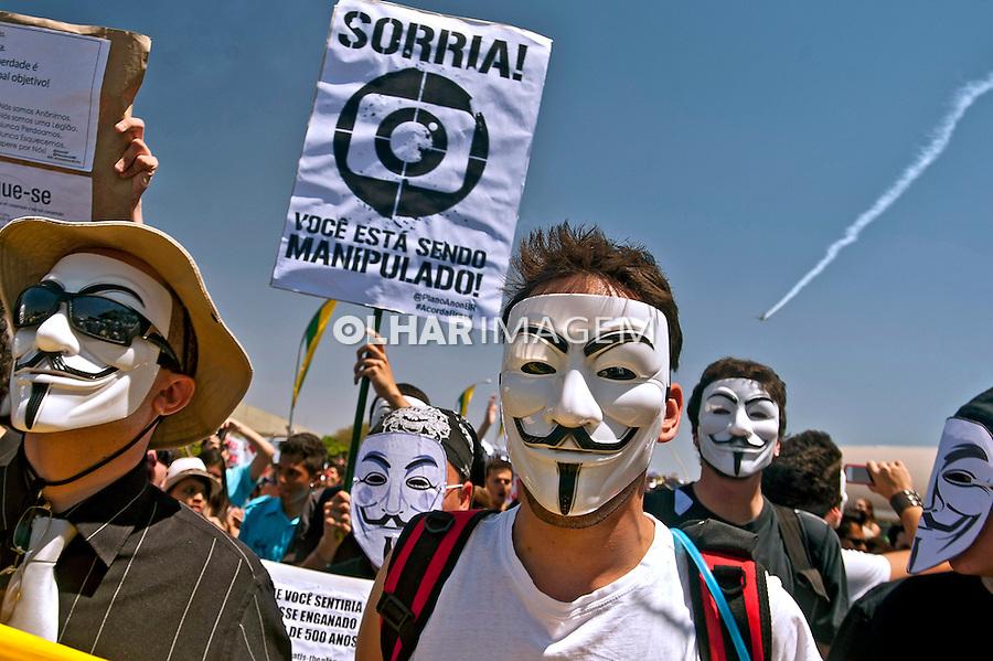 Manifestaçao Marcha contra a Corrupçao. Brasilia. Distrito Federal 2011. Foto de Sergio Amaral.