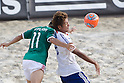 Morgan Plata (MEX), Masahito Toma (JPN), SEPTEMBER 02, 2011 - Beach Soccer : FIFA Beach Soccer World Cup Ravenna-Italy 2011 Group D match between Japan 2-3 Mexico at Stadio del Mare, Marina di Ravenna, Italy, (Photo by Enrico Calderoni/AFLO SPORT) [0391]