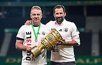 04.07.2020, Fussball DFB Pokal Finale, Bayer 04 Leverkusen - FC Bayern Muenchen emspor,v.l. JTrainer Hans-Dieter Hansi Flick (FC Bayern Muenchen), Hasan Salihamidzic (Sportdirektor FC Bayern München)<br /> mit dem DFB POKAL<br /> <br /> Foto: Kevin Voigt/Jan Huebner/Pool/Marc Schueler/Sportpics.de<br /> <br /> (DFL/DFB REGULATIONS PROHIBIT ANY USE OF PHOTOGRAPHS as IMAGE SEQUENCES and/or QUASI-VIDEO - Editorial Use ONLY, National and International News Agencies OUT)