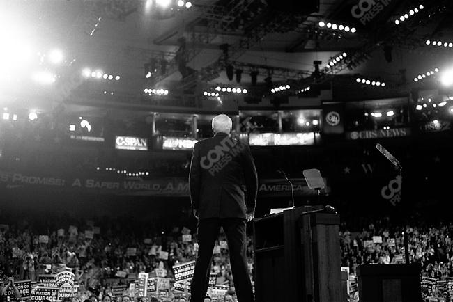 Senator John McCain (R-Arizona) at the Republican National Convention, New York City, NYC, USA, August 30, 2004