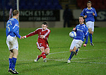 St Johnstone v Aberdeen...13.12.11   SPL .Ryan Jack scores direct from Peter Enckelman's mis-hit clearance.Picture by Graeme Hart..Copyright Perthshire Picture Agency.Tel: 01738 623350  Mobile: 07990 594431