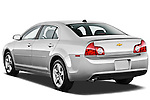 Rear three quarter view of a 2012 Chevrolet Malibu 1LS