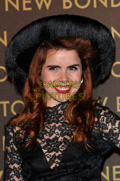 PALOMA FAITH .attends the launch of the Louis Vuitton Bond Street Maison Store in London, England, UK, May 25th, 2010. .portrait headshot black hat lace red lipstick make-up smiling .CAP/PL.©Phil Loftus/Capital Pictures.